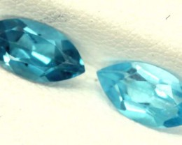 BLUE TOPAZ NATURAL FACETED (PAIR) 1.50 CTS   PG-1113