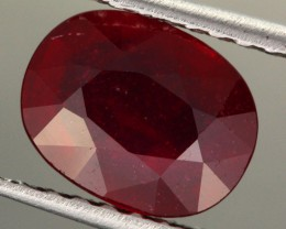 3.10 CTS CERTIFIED BLOOD RED AFRICAN RUBY [R35709]