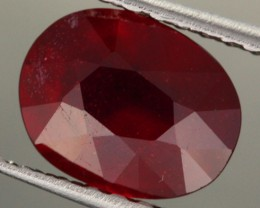 2.98 CTS CERTIFIED BLOOD RED AFRICAN RUBY [R35720]