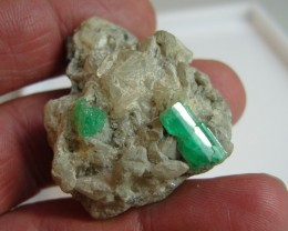 Colombian emerald rough on matrix