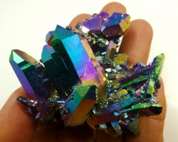 COLLECTORS  HUGE STUNNING TITANIUM TREATED CRYSTALS 261   CTS   MS24