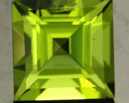 1.73 CTS CERTIFIED PERIDOT STONE SQUARE STEP CUT  [W35694]