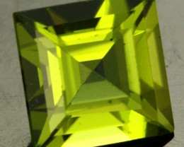 1.61 CTS CERTIFIED PERIDOT STONE SQUARE STEP CUT  [W35697]