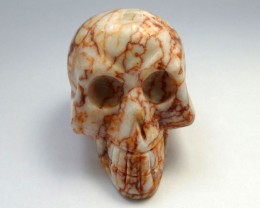 VEINED JASPER  GEMSTONE SKULL 668.80  CTS RT 1845