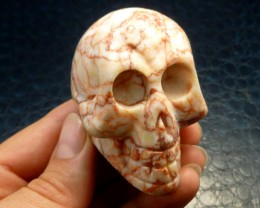 VEINED JASPER  GEMSTONE SKULL 639.30  CTS RT 1846