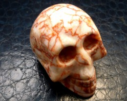 VEINED JASPER  GEMSTONE SKULL 605.20  CTS RT 1847