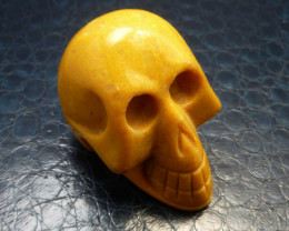 YELLOW JASPER  GEMSTONE SKULL  568.45 CTS RT 1850
