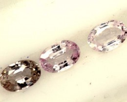 MULTI COLOURED SAPPHIRE FACETED(3PCS)2CTS  PG-1436