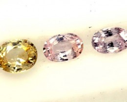 MULTI COLOURED SAPPHIRE FACETED(3PCS) 2.50CTS  PG-1388