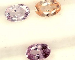 MULTI COLOURED SAPPHIRE FACETED(3PCS)2CTS  PG-1370