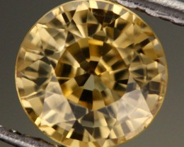 1.34 CTS CERTIFIED YELLOW ZIRCON - RARE COLOUR [Y35943]