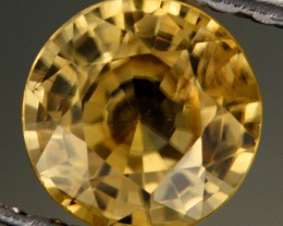 1.23 CTS CERTIFIED YELLOW ZIRCON - RARE COLOUR [Y35942]