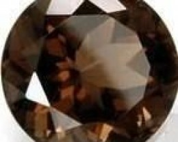 3.10 CARAT WEIGHT ROUND CUT SMOKEY QUARTZ