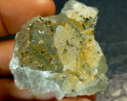 136CTS FLUROITE SPECIMEN WITH PYRITE,CRYSTAL MS132
