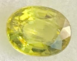 CERTIFIED Brilliant Greenish Yellow Sphene -A259
