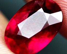 VS Pigeon Blood Ruby 7.32 Carats - Fiery, Gorgeous