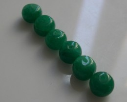 PARCEL OF 6 NATURAL EMERALD BEADS 27,30CTS