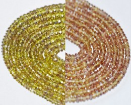 SALE 3mm to 4mm Color Change Garnet beads faceted green to red