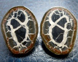 340 CTS PAIR SPLIT POLISHED SERPATIAN NODULES MS 712