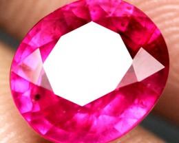 Fiery Reddish Pink Ruby - 2.88 Carats - Beautiful Gem