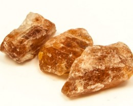 42 CTS  BEAUTIFUL SUNSTONE ROUGH 3PC  RG-2636