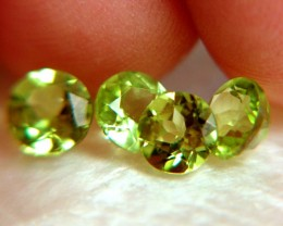 3.56 Tcw. Peridot Accents, 4 pcw. 6mm by 3.5, VVS Superb