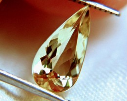 2.10 Carat Heliodor Yellow Beryl - IF/VVS1 Clarity - Superb