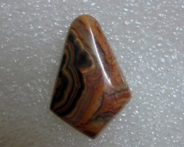 21.78ct Flowering Tube ONYX Cab Gorgeous Rich Colored Lines