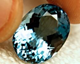 CERTIFIED - 17.25 Ct. VVS Gorgeous Blue South American Topaz
