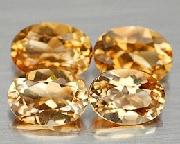 3.80 Tcw. VVS Citrine Accent Gems, 4pcs, 6.8 x 5.0 x 3.9