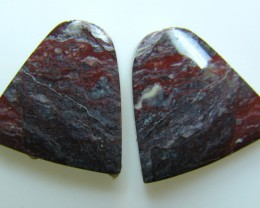 BANDED PATTERN JASPER PAIR  23.60 CTS