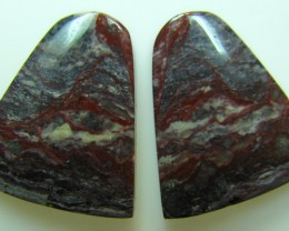 BANDED PATTERN JASPER PAIR 16.95 CTS