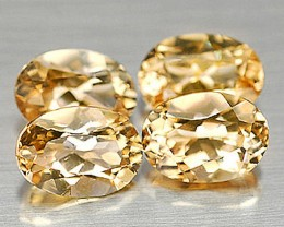 3.85 Tcw. Citrine Accents, 4 pieces, 7mm by 5 by 3.8