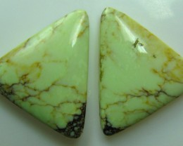 CHRYSOPRASE CITRON PAIR OF STONES 18.50 CTS