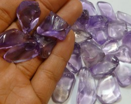 431 CTS PARCEL TUBLED CLEAN AMETHYST STONES MS 912