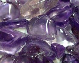 413 CTS PARCEL TUBLED CLEAN AMETHYST STONES MS 919