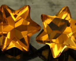 5.33 CTS FANTA ORANGE CITRINE STAR [S7477]