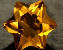 3.95 CTS FANTA ORANGE CITRINE STAR [S7486]