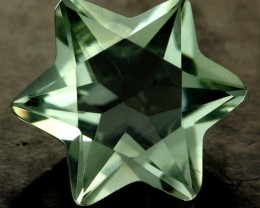 6.53 CTS VS GREEN AMETHYST STAR (PRASIOLITE) [S7505]