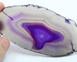 INTOXICATING COLORFUL AGATE POLISHED SLICE 2.10 OUNCES