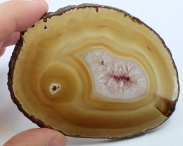 INTOXICATING COLORFUL AGATE POLISHED SLICE 2.65 OUNCES