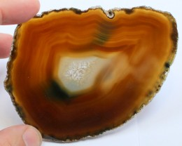 INTOXICATING COLORFUL AGATE POLISHED SLICE 2.75 OUNCES