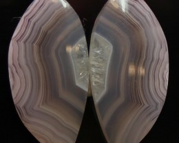 18.00 CTS RICO VALLEY AGATE PAIR - BEAUTIFUL SET