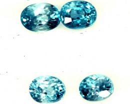 BLUE TOPAZ NATURAL FACETED (4 PCS) 2.25 CTS  PG-1333
