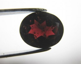 5.1 carat FACETED DARK RED ALMANDITE GARNET GEM