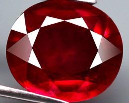 5.75 Carat Cherry Ruby - Superb Fire - Gorgeous Gem