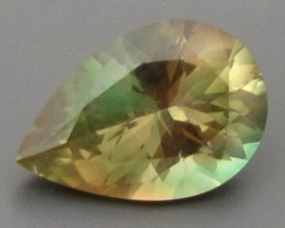 CERT 7.68ct BI-COLOR GREEN OREGON SUNSTONE