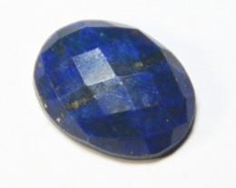 20mm faceted Lapis Lazuli cabochon