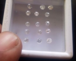 NATURAL WHITE DIAMOND,6-8 PTSIZE---15PCSLOT