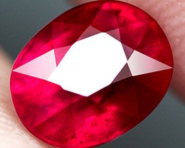 3.14 Carat Pinkish Red Ruby - Superb Gem